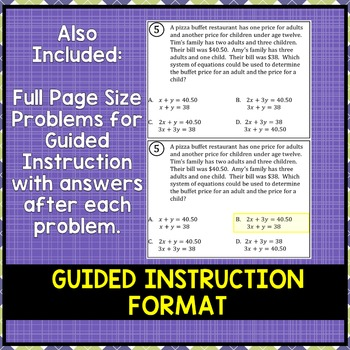 Writing Systems of Equations: Setting Up Word Problems