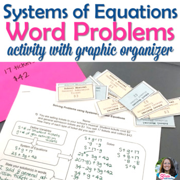 Systems of equations word problems activity with graphic organizer ibookread Download