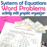 Systems of Equations Word Problems Activity with Graphic O
