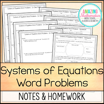 solving systems of equation word problems