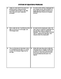 Systems of Equations Word Problems Practice