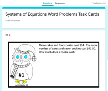 Systems of Equations Word Problems With and Without QR Codes