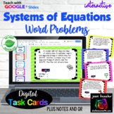 Systems of Equations Word Problems with Google Slides™