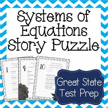 Systems of Equations Word Puzzle