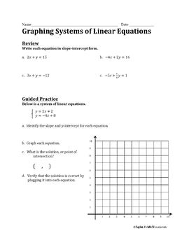 Systems of Equations Worksheet Bundle