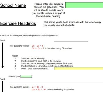 Systems of Equations - Worksheets - Whiteboard