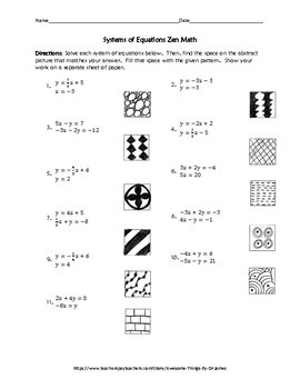 Systems of Equations Zen Math