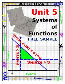 Algebra 1 - Systems of Equations and Inequalities Complete Unit - FREE SAMPLE