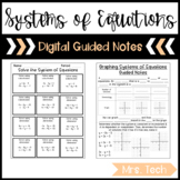 Systems of Equations and Inequalities Guided Notes - Digital