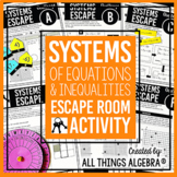 Systems of Equations and Inequalities Review - Escape Room Activity