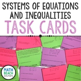 Systems of Equations and Inequalities Task Cards - Texas Algebra 2 Review