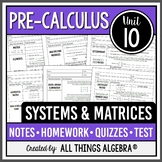 Systems of Equations and Matrices (PreCalculus Curriculum