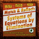 Systems of Equations by Elimination: Matching Activity wit