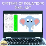 Systems of Equations by Substitution Digital Pixel Art