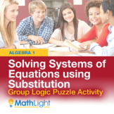 Systems of Equations by Substitution Group Logic Puzzle Activity