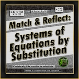 Systems of Equations by Substitution: Matching Activity wi