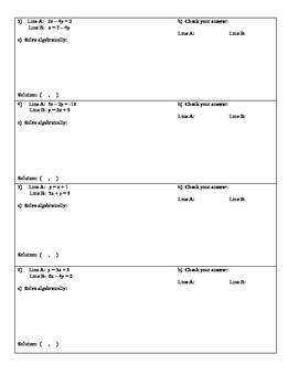 of Equations by Substitution Self-Checking Riddle Worksheet