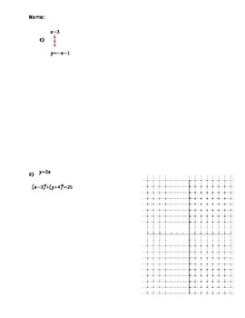 Systems of Equations circles and tangents