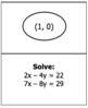 Solve Systems using Elimination Scavenger Hunt