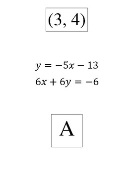 Systems of Equations using substitution scavenger hunt