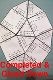 Systems of Equations with 3 Variables Elimination Puzzle Activity Cut & Paste