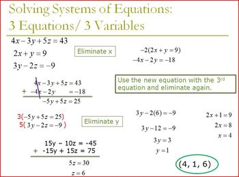 Systems of Equations with 3 Variables (PP)