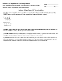 Systems of Equations with Three Variables