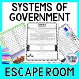 Systems of Government Escape Room!  Unitary, Federal, Confederal, Parliamentary