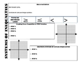Systems of Inequalites Graphic Organizer