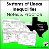 Systems of Inequalities Notes & Practice (A3H)