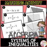 Graphing Systems of Linear Inequalities Card Match Activity
