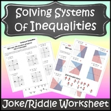 Systems of Inequalities Activity {Solving Systems of Inequalities Activity}