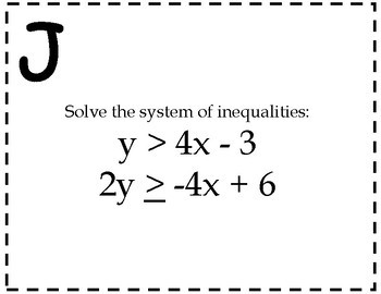 Systems of Inequalities Activity {Solving Systems of Inequalities by Graphing}