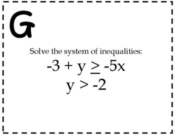 Systems of Inequalities Activity {Algebra Scavenger Hunt}
