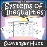 Systems of Inequalities Activity {Algebra Scavenger Hunt}