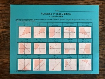 Systems of Inequalities: Cut and Paste Activity