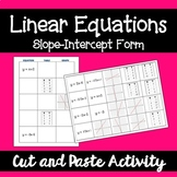 Linear Equations - Slope-Intercept Form: Cut and Paste Activity
