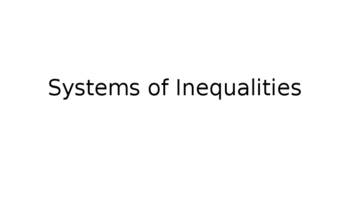 Systems of Inequalities Lecture PowerPoint
