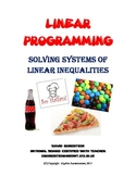 Systems of Inequalities - Linear Programming - Worksheet - Real World Problems