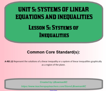 Systems of Inequalities (Math 1)