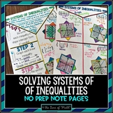 Systems of Inequalities No Prep Note Pages