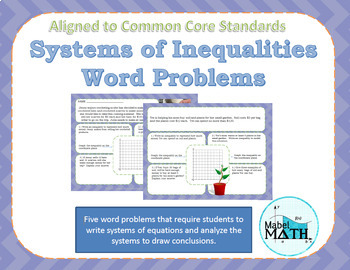 Inequalities With Two Variables Word Problems Worksheets