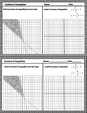 Systems of Inequalities Writing Graphing Shading Exit Ticket Assessment