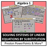 (Alg 1) Solving Systems of Linear Equation by Substitution in a PowerPoint