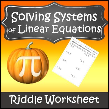 Systems of Equations Activity {Thanksgiving Algebra 1 and 2 Activity }