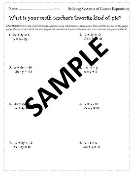 Systems of Equations Activity {Solving Systems of Equations Activity }