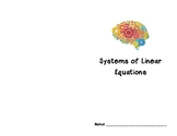 Systems of Linear Equations Unit Booklet