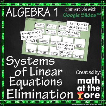 Systems of Linear Equations - Elimination - GOOGLE Slides