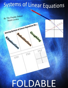Systems of Linear Equations Foldable