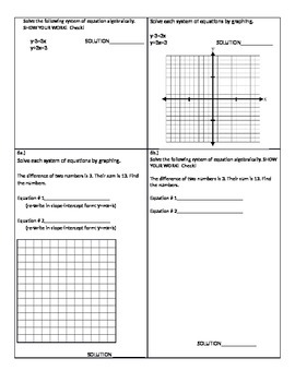 Systems of Linear Equations: Graphing vs Substitution